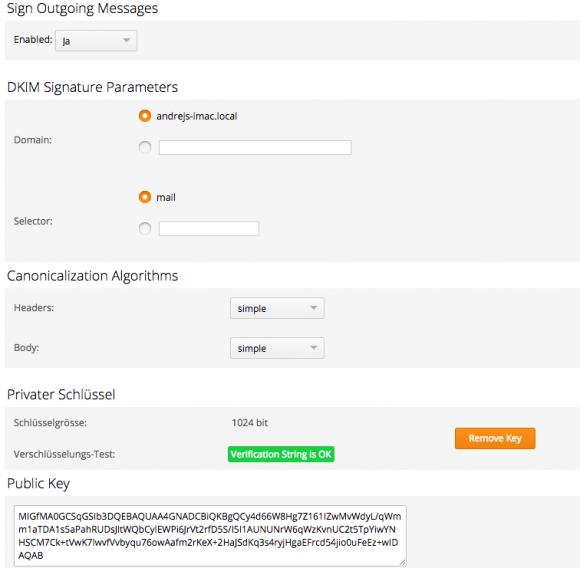 CommuniGate Pro kann nun ausgehende Mails mit einer DKIM-Signatur versehen.