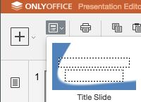 Programm für Präsentationen in OnlyOffice