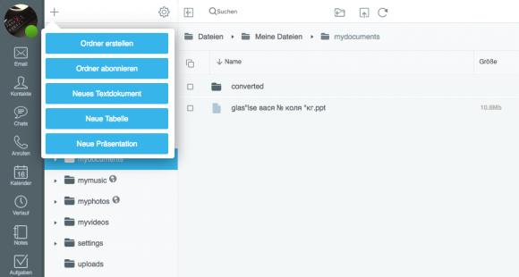 Mit OnlyOffice können innerhalb von CommuniGate Pro Office-Dateien erstellt und gemeinsam bearbeitet werden.
