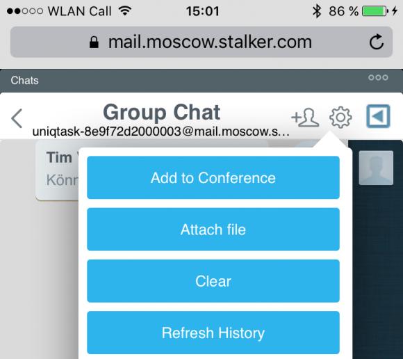 Mit Pronto! HTML5 können Chats per Instant Messaging auch auf Smartphones ohne zusätzliche Software geführt werden.