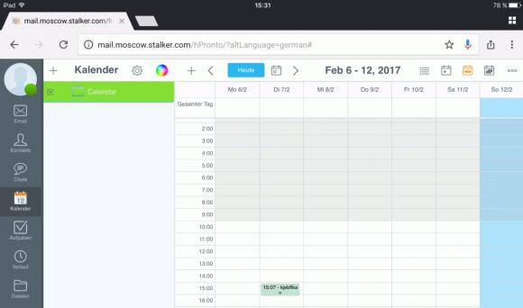 Der Kalender im Pronto! HTML5 Client erlaubt das Verschieben von Terminen per Drag-and-Drop auch auf Tablets und Smartphones.