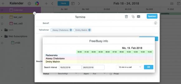 Der Kalender von CommuniGate Pro wurde unter anderem bei der Free-/Busy Verwaltung verbessert.