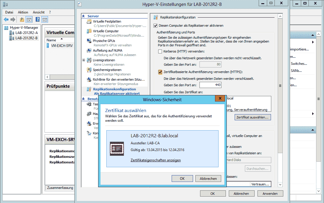 Hyper-V Replica: VM-Replikation mit Zertifikaten verschlüsseln ...
