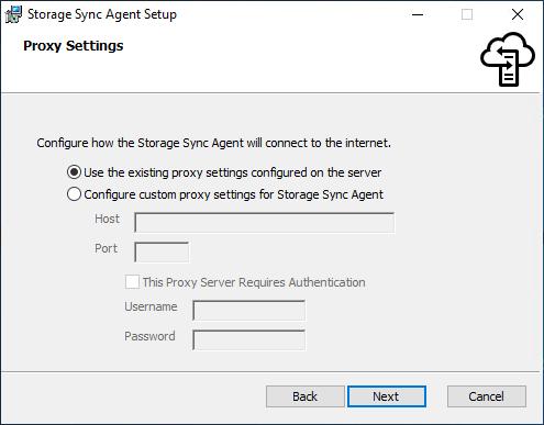 Proxy-Einstellungen für den File-Sync-Agent konfigurieren