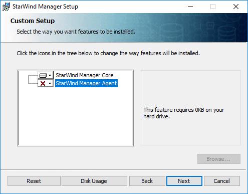 StarWind Manager Core installieren