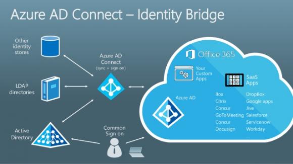 Azure AD Connect schlägt die Identitätsbrücke. Quelle: Microsoft