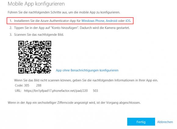 QR-Code mit Mobile App scannen