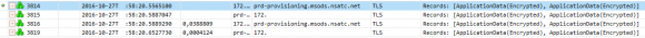 Der Network Trace mit dem Message Analyzer zeigt die gesicherte Verbindung.
