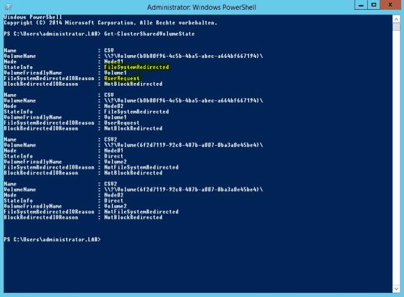 Windows Server 2012 R2 brachte ein neues Cmdlet zur CSV-Diagnose.