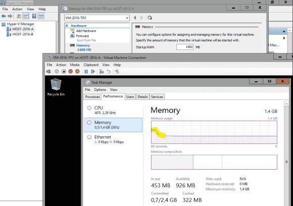 Virtuellen Arbeitsspeicher während der Laufzeit einer VM hinzufügen