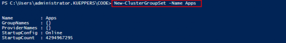 Group-Set mit PowerShell erzeugen