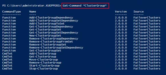Cmdlets für die Konfiguration der VM Start Order