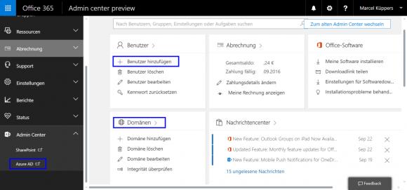 Office 365 und Azure AD stehen in enger Verbindung.