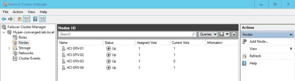 Die Minimalkonfiguration für Storage Spaces Direct erfordert einen Cluster mit 4 Knoten.