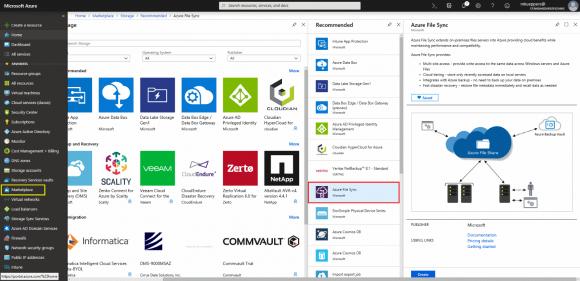 Azure File Sync über den Marketplace buchen