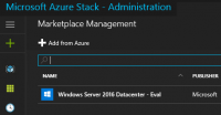 Azure Stack Marketplace Administration