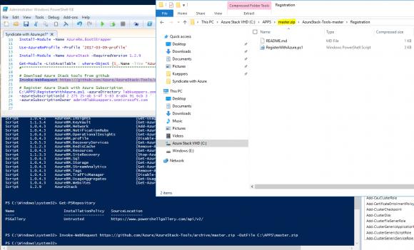 Azure Stack Tools herunterladen und entpacken