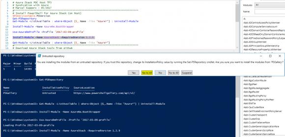 PowerShell für Azure Stack installieren