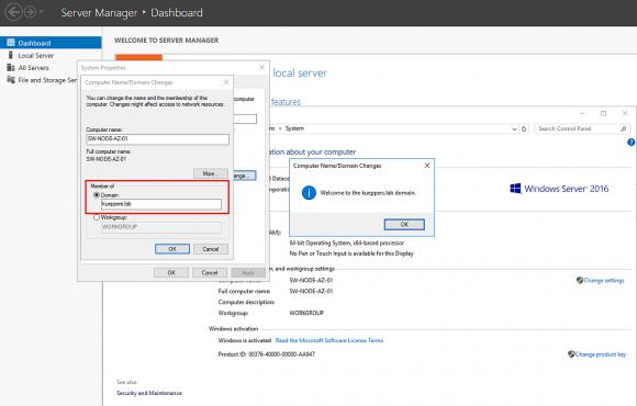 Wenn das VPN zwischen Azure und dem on-prem Rechenzentrum steht, können Azure VMs der Domäne beitreten.