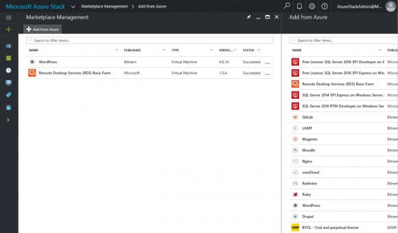 Vorgefertigte Images auf Basis von Linux und Windows Server im Azure Marketplace