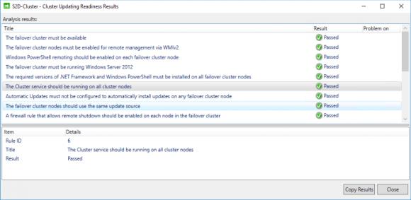 Best Practices Analyzer für Cluster-Aware Updating