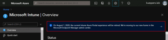 Migration from Intune Azure Portal to Endpoint Manager Admin Center