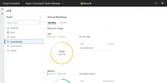 Virtual Machine Management mit den Honolulu-Tools