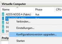 Konfigurationsversion ändern in Hyper-V Manager