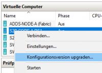 Konfigurationsversion ändern in Hyper-V Manager