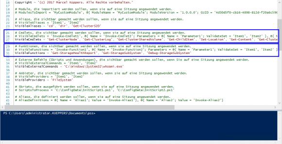 Beispiel-Konfiguration für einen späteren Cluster-Support
