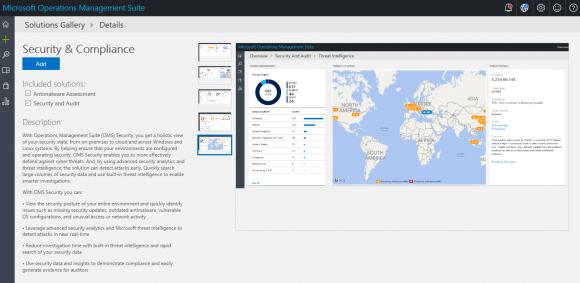 Die Operations Management Suite enthält auch einen Schutz vor Malware.