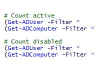 AD-Objekte mit PowerShell zählen