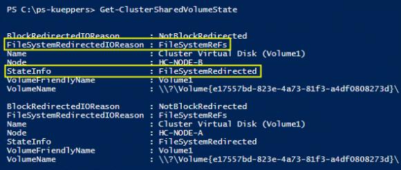 ReFS im Zusammenspiel mit Cluster Shared Volumes