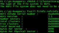 chkdsk auf Volume mit ReFS