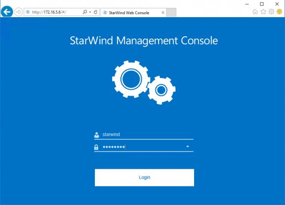 Remote-Konsole von StarWind VSA in einem HTML5-fähigen Browser
