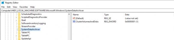 DWORD zum Ein-/Ausschalten der Datensammlung