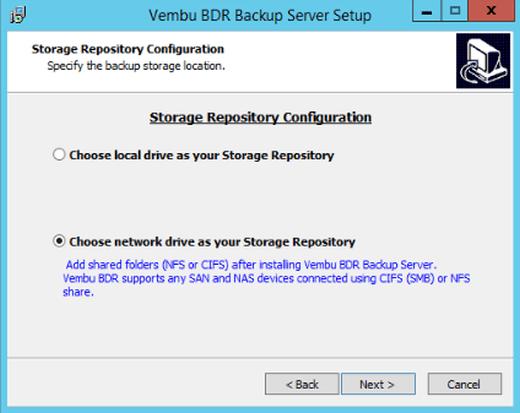 Vorab-Konfiguration des Storage Repository