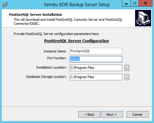 Konfiguration des PostgreSQL Server