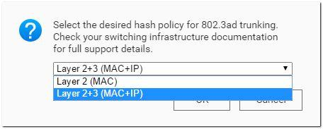 Hash-Richtlinie Layer 2+3 (MAC+IP)