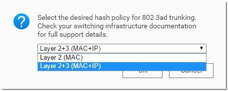 Hash-Richtlinie Layer 2+3 (MAC+IP)