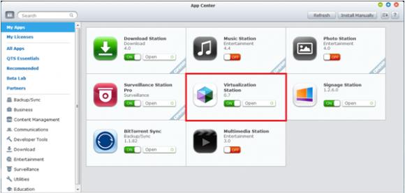 Die Virtualization Station ist als Anwendung im App Store verfügbar.