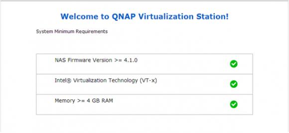 Die Virtualization Station erfordert mindestens 4GB RAM.