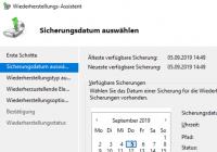 AD wiederherstellen mit Windows Server Sicherung