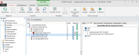 Das Kombinieren von Filtern stellt für das ACMP kein Problem dar.