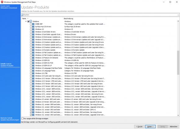 Der Wizard für die CAWUM-Konfiguration lädt den Update-Katalog von Microsoft herunter.