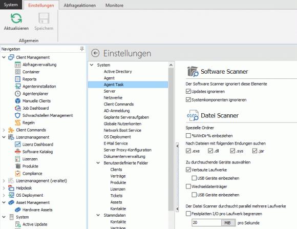 Der File-Scanner versucht, zusätzliche Metadaten direkt aus den Binärdateien auszulesen.
