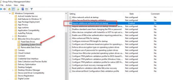 GPO-Einstellung, die für die BitLocker-Netzwerkentsperrung konfiguriert werden muss.