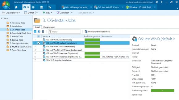 Mit der baramundi Management Suite können Administratoren unterschiedlichste Betriebssysteme ausrollen.