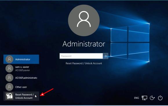 Über den GINA-Provider lassen sich Passwörter direkt vom Anmeldebildschirm zurücksetzen.