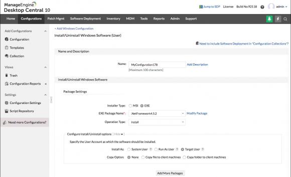 Software verteilen mit ManageEngine Desktop Central